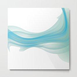 Abstract Wave Metal Print