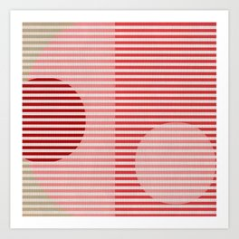 Stripes & Circles 1 Art Print