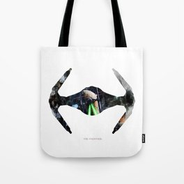 StarWars TIE fighter - Wall Art, Poster, Watercolor, Painting, Drawing, Fine Art, Print Tote Bag