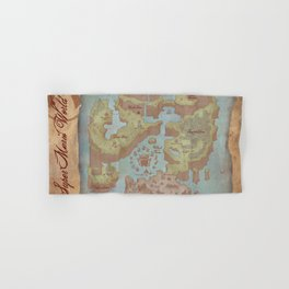 Super Mario World Map (Vintage Style) Hand & Bath Towel
