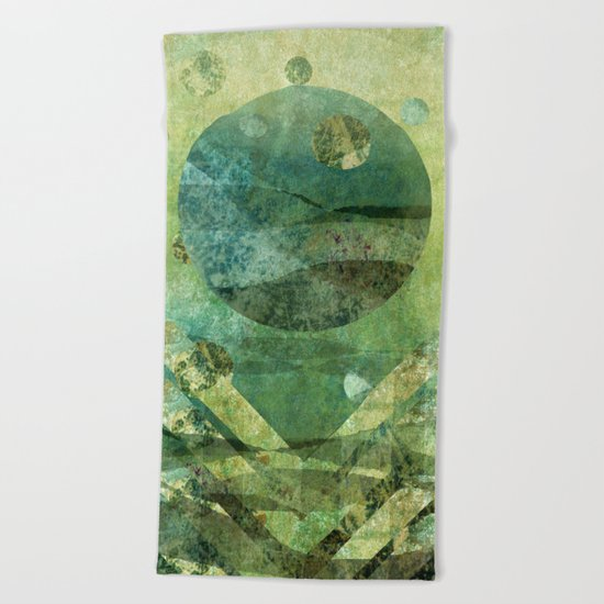Marine Moon Beach Towel