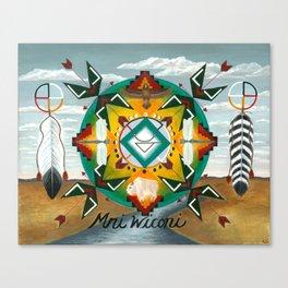 Mni Wiconi ~ Water is Life Canvas Print