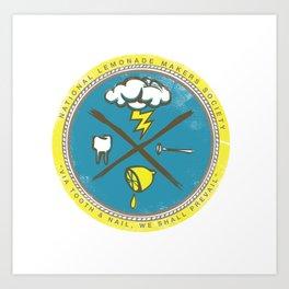 National Lemonade Makers Society Crest Art Print