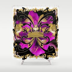 My Empire Collection Summer Set purple Flowers Shower Curtain