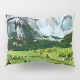 Austria Tyrol Mountains acrylic painting Pillow Sham