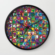 Stacks Geometric Art Print. Wall Clock