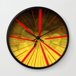 Yellow Complex Abstract Wall Clock