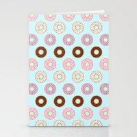 doughnut Stationery Cards featuring Doughnut Polka by Karolis Butenas