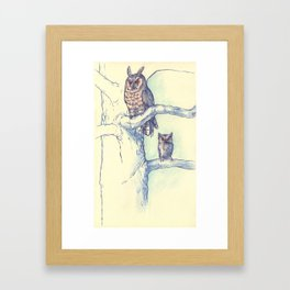 Two Owls Framed Art Print