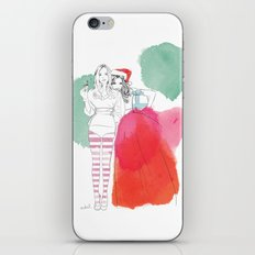 Christmas Illustrations iPhone Skin