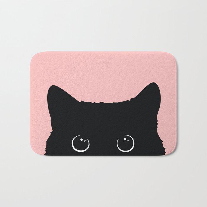 Black Cat Badematte