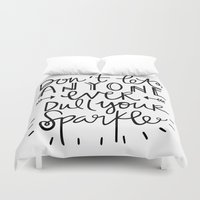 sparkle Duvet Covers featuring Sparkle by Tinta Caramelo