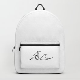 Beach Waves (Geographic Line Art) Backpack