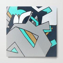 Calla Lily Silver Blue Metal Print