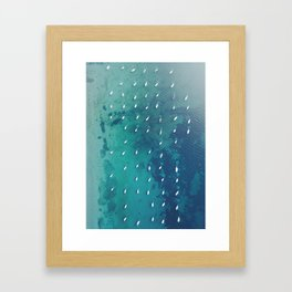 Boats on the Ocean Framed Art Print
