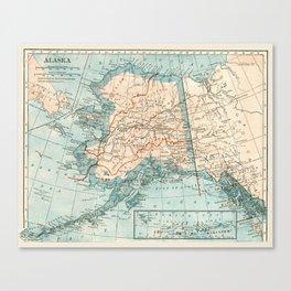 Vintage Alaska Canvas Print