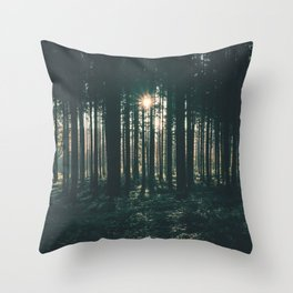 Sun through the Woods Throw Pillow