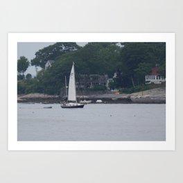 Sailing Casco Bay Art Print