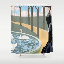 "Juan Gris ""Leda"" Shower Curtain"