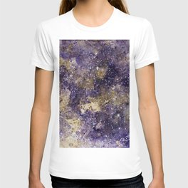 Writings in the Sky the Night Galaxy watercolor by CheyAnne Sexton T-shirt