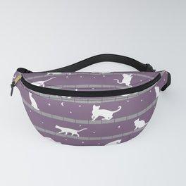Cats Pattern (purple) Fanny Pack