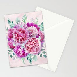 Beautiful soft pink peonies Stationery Cards