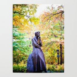 Eleanor Roosevelt Statue in Riverside Park Poster