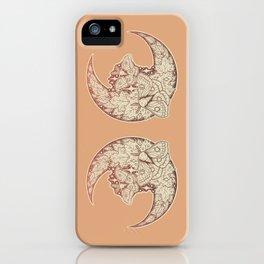 Moth & Moon | Autumn Terra Cotta Palette | Nature Art iPhone Case