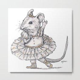 Tiny Dancer - Ballet Field Mouse Metal Print