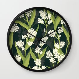 Water Hemlock Pattern Wall Clock