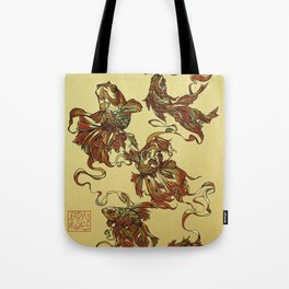 Tangled Veiltail Tote Bag