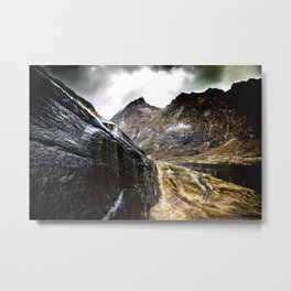 Walk next to the fjord Metal Print