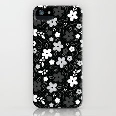 Black & White Floral Slim Case iPhone SE