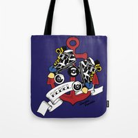 rebel Tote Bags featuring Rebel! by Double Trouble