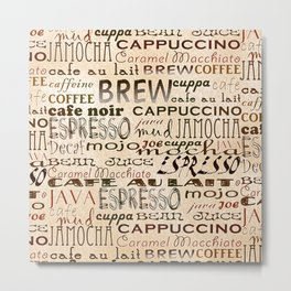 Coffee and Cream Metal Print
