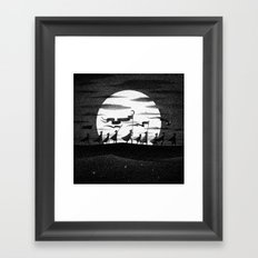 Drawlloween 2015: Moon Framed Art Print
