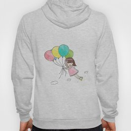 Miss Cupcake Flying with Balloons Hoody