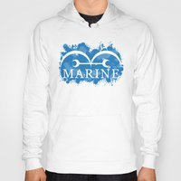 marine Hoodies featuring Marine by rKrovs