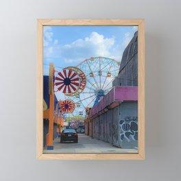 Wonder Wheel Framed Mini Art Print