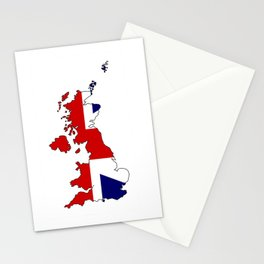 United Kingdom Map and Flag Stationery Cards