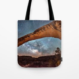 Natural Bridge and the Milky Way in Utah Tote Bag