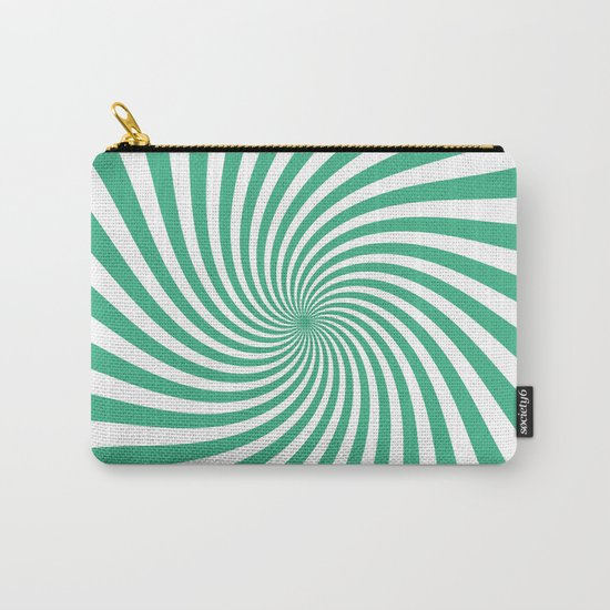 Swirl (Mint/White) Carry-All Pouch