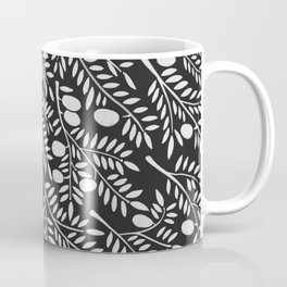 White Olive Branches Coffee Mug