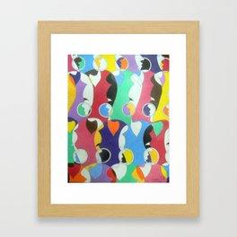 Trading Faces Framed Art Print
