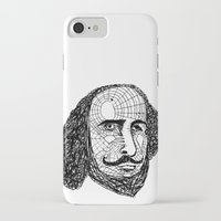 shakespeare iPhone & iPod Cases featuring William Shakespeare by Feld Sprucetree