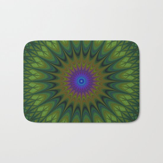 Nature mandala Bath Mat