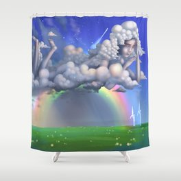 The rainbow godess Shower Curtain