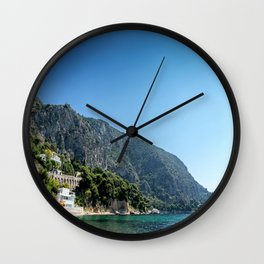 French Riviera Beach Day Wall Clock