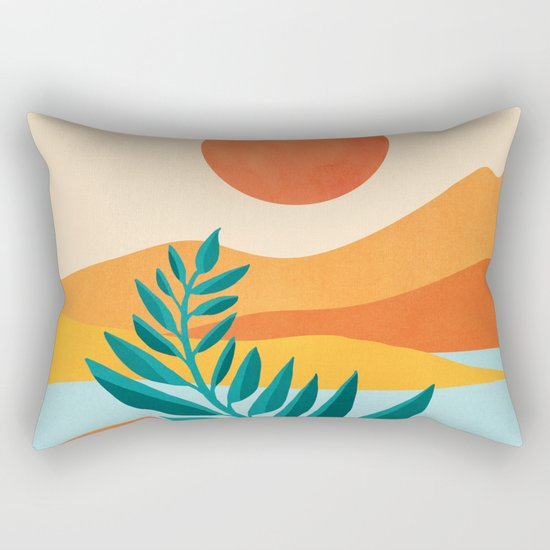 Mountain Sunset / Abstract Landscape Illustration by kristiangallagher