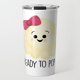 Ready To Pop - Popcorn Pink Bow Travel Mug